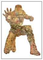 THE AVENGERS IRON MAN Personalised map art - canvas print - self adhesive poster - photo print